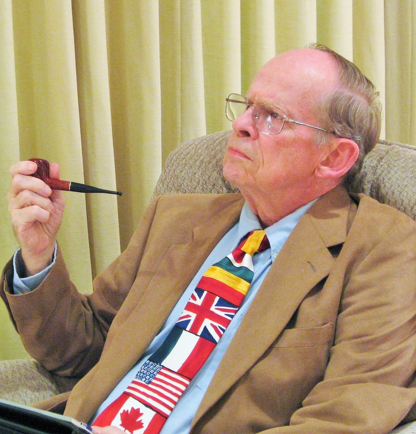 Walt Pilcher with pipe
